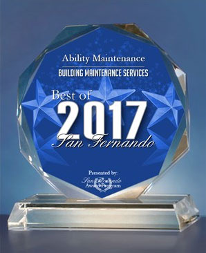 Awarded the best building maintenance company in the San Fernando area in 2017